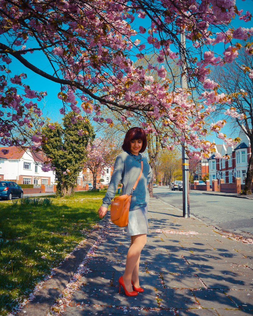 Cherry blossoms red shoes (5)